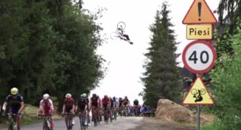 Bijzondere stunt bij slotetappe Ronde van Polen
