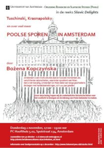 Lezing: Poolse sporen in Amsterdam @ P.C. Hoofthuis 5.02 | Amsterdam | Noord-Holland | Nederland