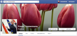 De profielfoto op de facebookkpagina van minister Timmermans