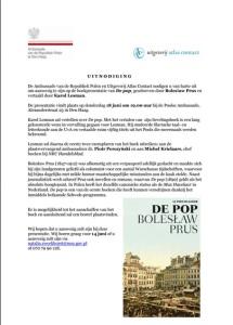 Uitnoding boekpresentatie De Pop
