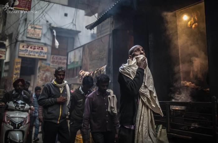 Straatbeeld in India
