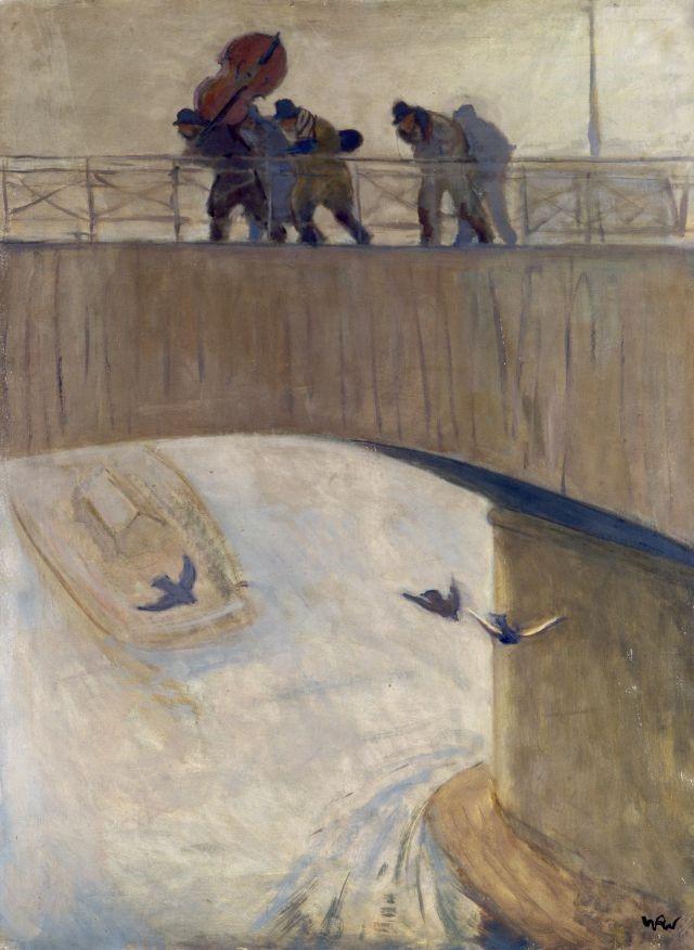 Muzikanten op de brug