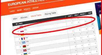 Polen tweede in het medailleklassement EU Atletiek