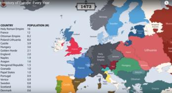 De kaart van Europa door de jaren heen
