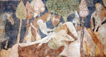 Sir Lancelot in 14de eeuwse woontoren in Siedlęcin