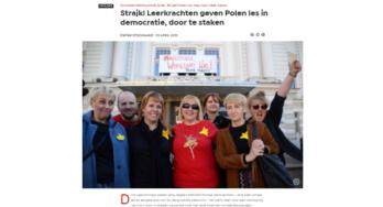 Staking van Poolse leerkrachten: Les in democratie