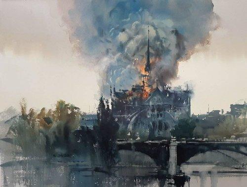 Michał Jasiewicz – De brandende Notre Dame