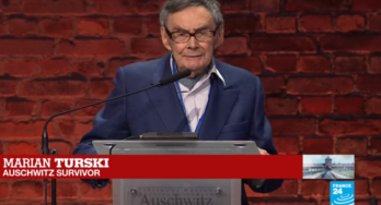 """""""Wees niet onverschillig"""" Marian Turski, overlevende van Auschwitz"""