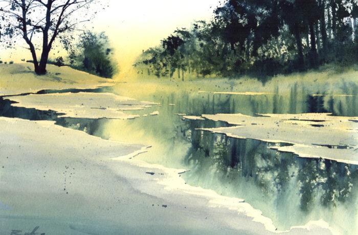 Rivier in winter