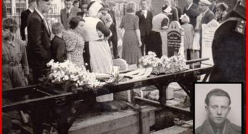 Bewegend beeld van begrafenis Ludwik Karcz op Urk in mei 1941